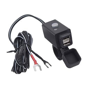 Cargador USB doble impermeable de Winomo, para coche, moto y ...