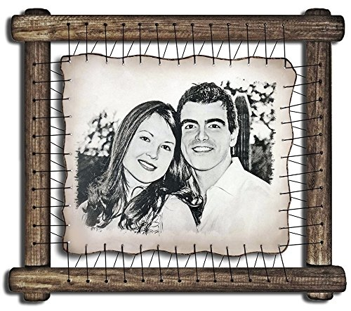 14th Wedding Anniversary Gifts Ideas For Her Silver Wedding Anniversary Gifts For Him 14 Year Anniversary Gift For Men Fourteenth Wedding - RARE Hand Drawn Pyrography Technique