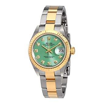 Amazon.com Rolex Lady Datejust Mint Green Diamond Dial