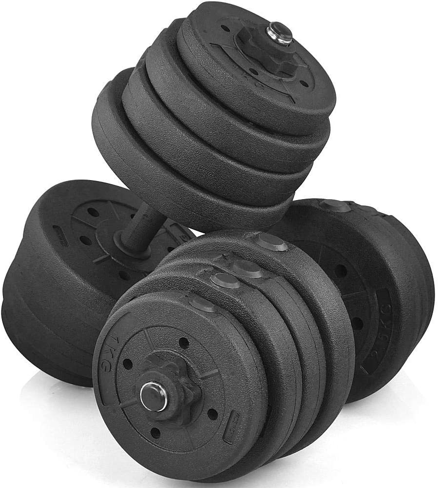 Yaheetech 66 LB Weight Dumbbell Set Fitness Adjustable Cap