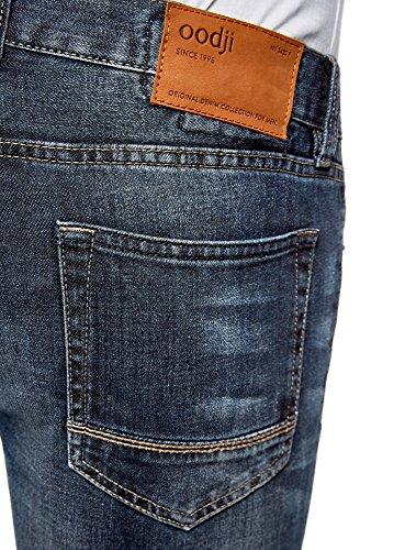7800w Con Uomo In Tasche Blu Fit Slim Jeans Ultra Cuciture Oodji pXxqvHp