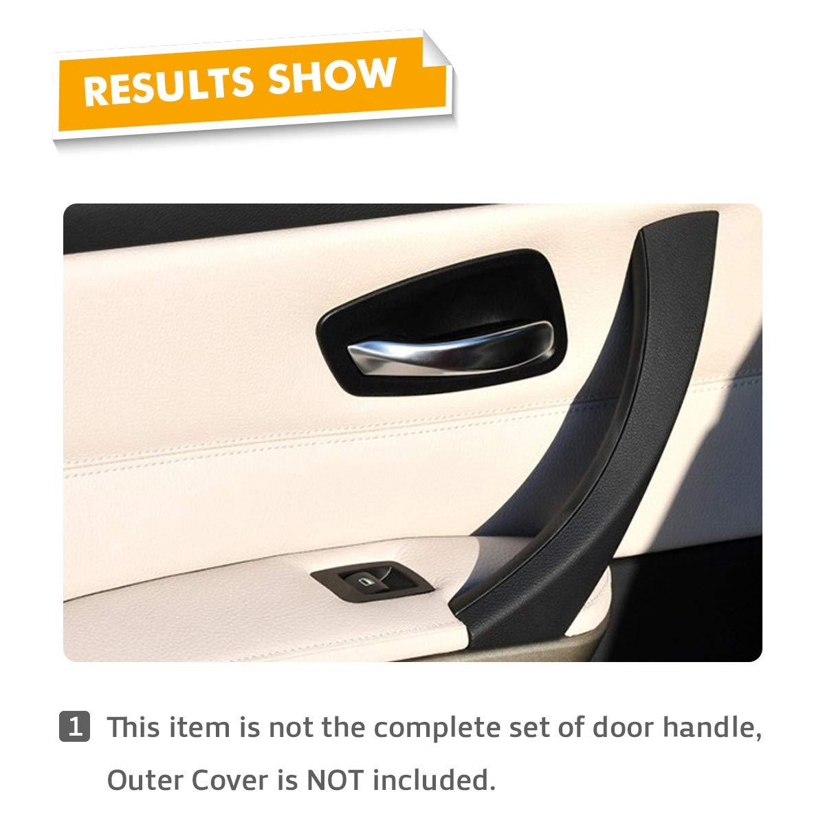 MODIFY-GT Lateral derecho Pasajero Negro Panel exterior Manija Tira Cubierta Cubierta Puerta Panel Manija