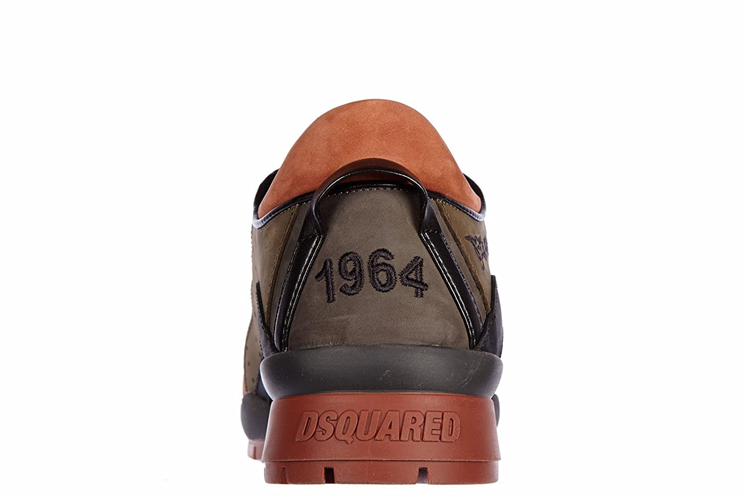 Amazon.com: DSQUARED2 Mens Shoes Leather Trainers Sneakers 551 Nabuk Brown: Shoes
