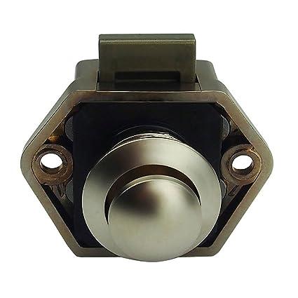 Globeagle Keyless Push Button Cabinet Latch Child Safety Push Latch