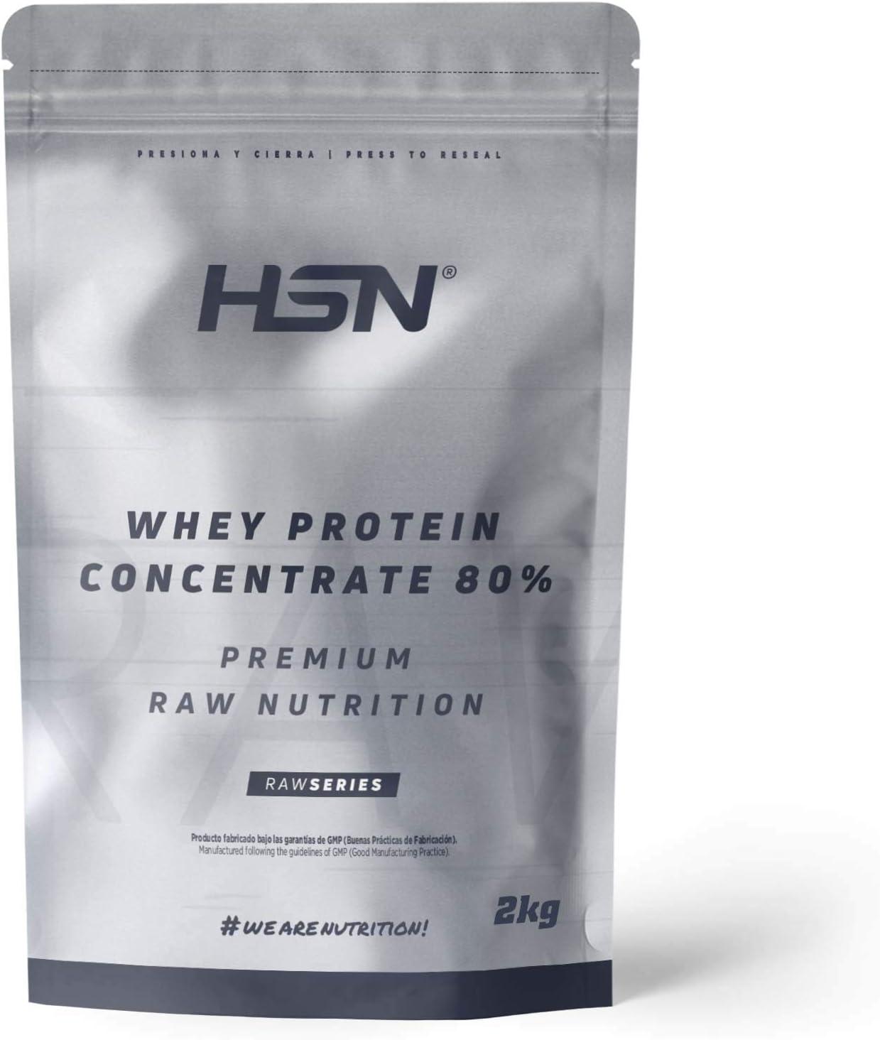 Concentrado de Proteína de Suero de HSN | Whey Protein Concentrate 2.0 | Batido de Proteínas en Polvo | Vegetariano, Sin Gluten, Sin Soja, Sin Sabor | ...
