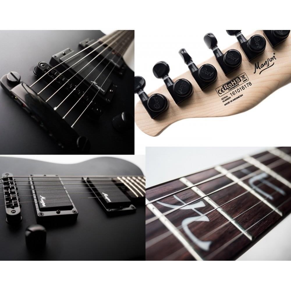 Guitarra electrica cuerpo macizo Cort M-JET BK: Amazon.es ...