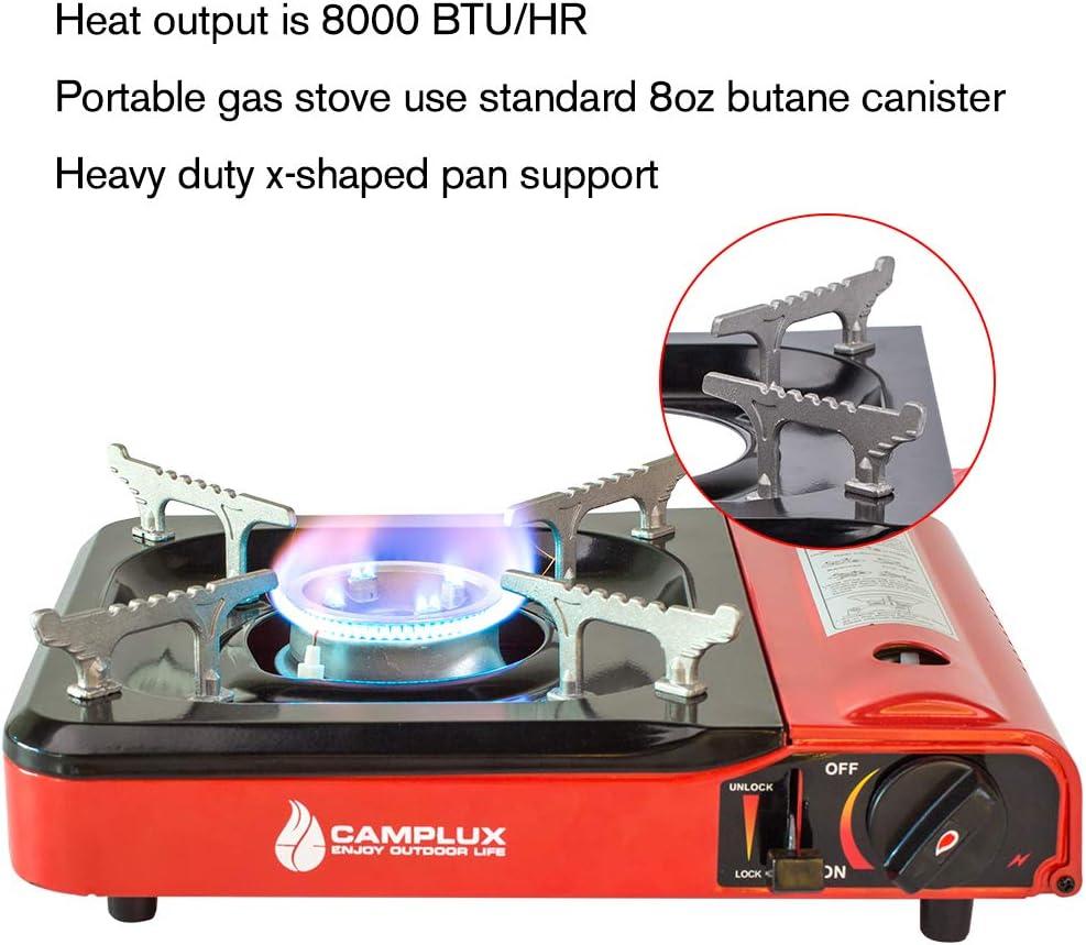 Camplux Cartucho Gas portátil, Cocina de Gas portátil, 3,4kW, para Camping, embarcaciones