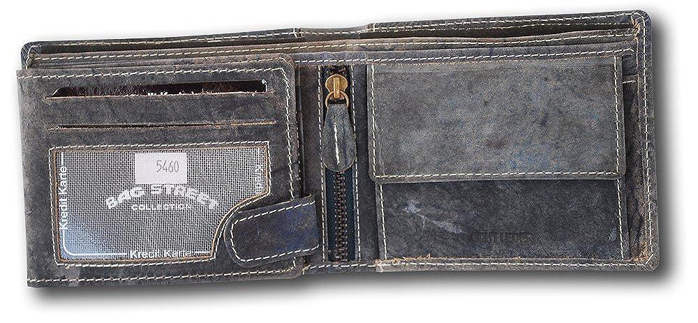 1b06c93c782 Bag Street - Cartera para hombre de Ante azul gris  Amazon.es  Zapatos y  complementos