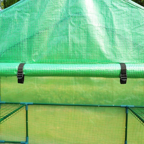 61b3aNLdehL - Outsunny 6.5' x 4.67' x 2.5' Outdoor Compact Walk-in Greenhouse