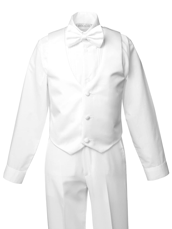 Spring Notion Boys White Classic Fit Tuxedo Set No Tail ERF202-SNS2-202.WT