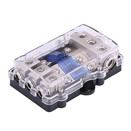 [DIAGRAM_4FR]  Amazon.com: Fuse Box, Universal 60A 1 in 3 Ways Out Car Auto Vehicle Stereo  Audio Power Fuse Box Holder Block Car Fuse Box Portable Fuse with Car Fuse  Holder: Industrial & Scientific | Fuse Box Portable |  | Amazon.com