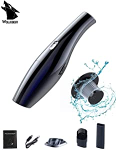 WOLFBOX Handheld Vacuum, Hand Vacuum Cordless Rechargeable,Wet Dry Vacuum Cleaner for Home Office Kitchen Car Pet Hair Dust Gravel Cleaning,Vac Black