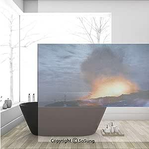 Modern Block Window Cling 36x24 5-Pack No Smoking CGSignLab