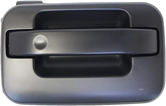 Door Handle For 2004-2014 Ford F-150 With Keyhole Smooth Black Front Left Outer