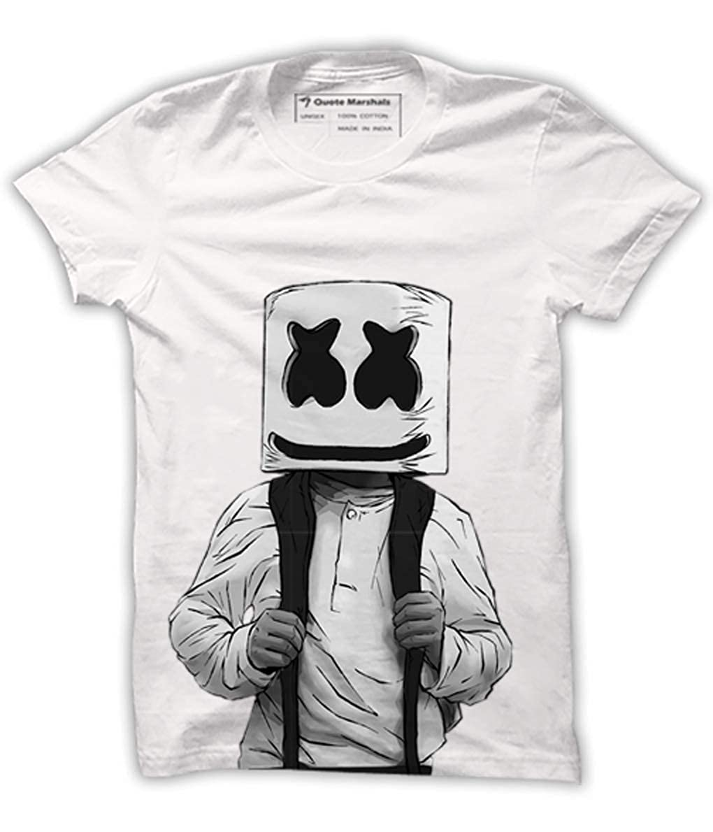 Quote Marshals Music Marshmello DJ White Cotton T-Shirt for Men s   Amazon.in  Clothing   Accessories 5d97b9d41f4
