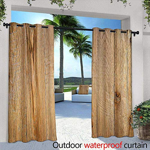 Lightly Outdoor Balcony Privacy Curtain,Old Wagon in Wild west Meadows Pioneer on a Horse Transportation cart, Vector Illustration,W72 x L96 Outdoor Curtain for Patio,Outdoor Patio Curtains