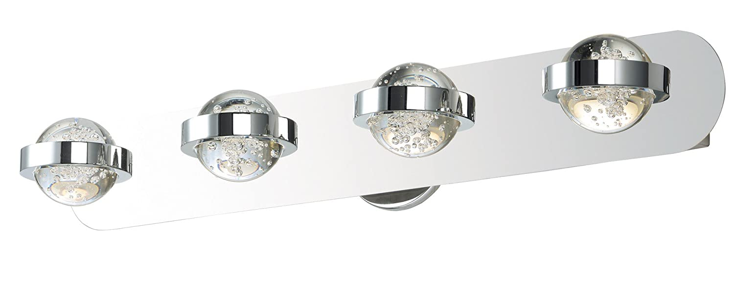 ET2 Lighting E30614-91PC Cosmo 4-Light Bath Vanity-PCB LED, Polished Chrome