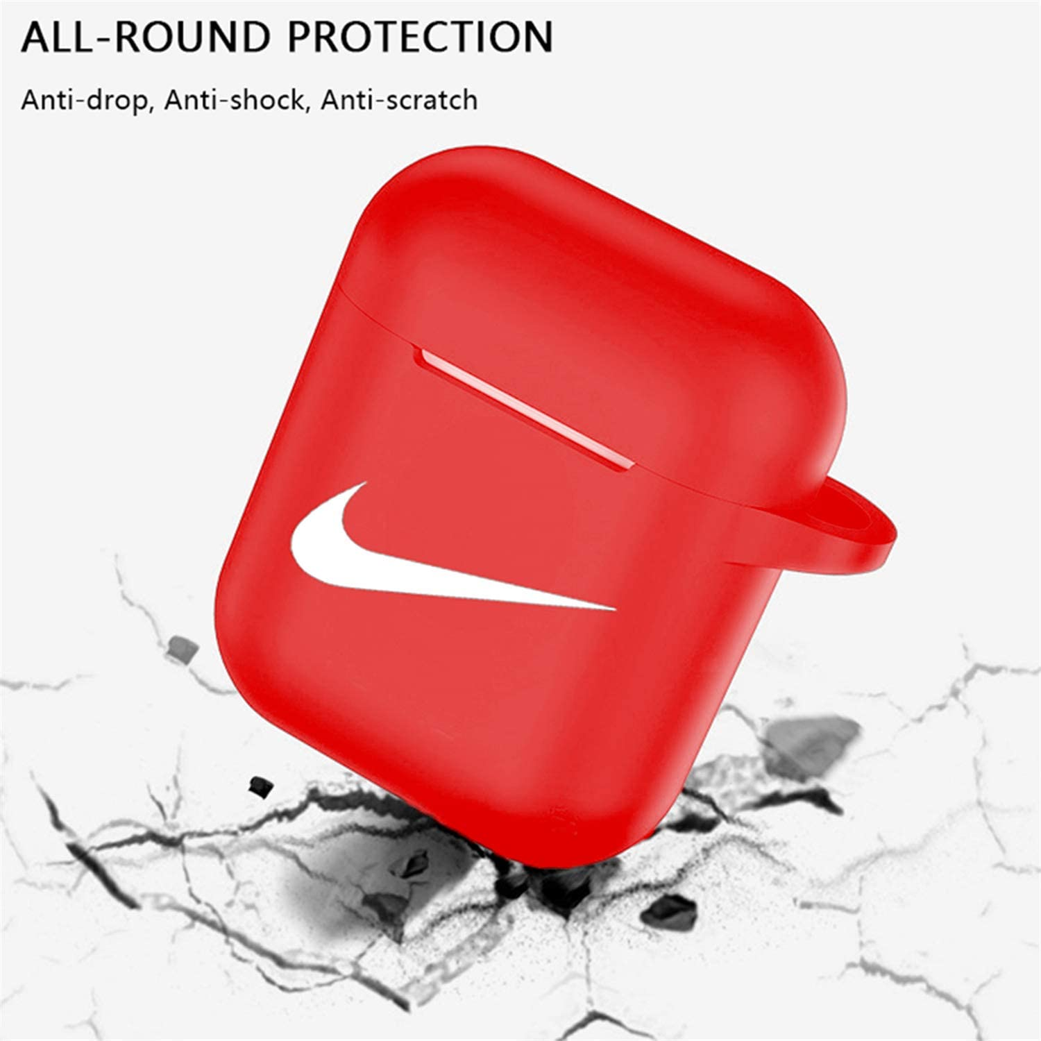 Cute 3D Luxury Character Soft Silicone Stylish Cover Sport Fun Cool Keychain Style Design Skin Black Adi Cases with Lanyard Chain,for Girls Kids Boys Men Air pods Punswan for Airpods 1/&2 Case