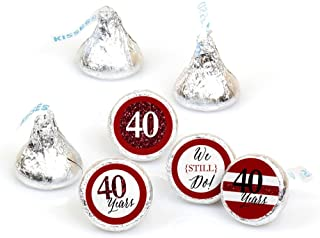 product image for We Still Do - 40th Wedding Anniversary - Party Round Candy Sticker Favors – Labels Fit Hershey's Kisses (1 Sheet of 108)