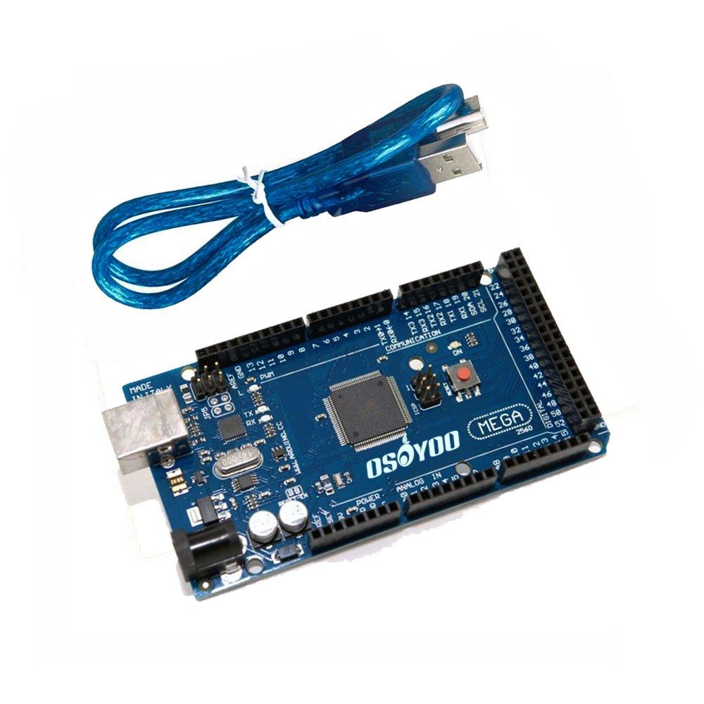 OSOYOO New MEGA2560 R3 Control Board ATMEGA2560-16AU For Arduino Compatible + USB Cable, [Importado de UK]: Amazon.es: Electrónica