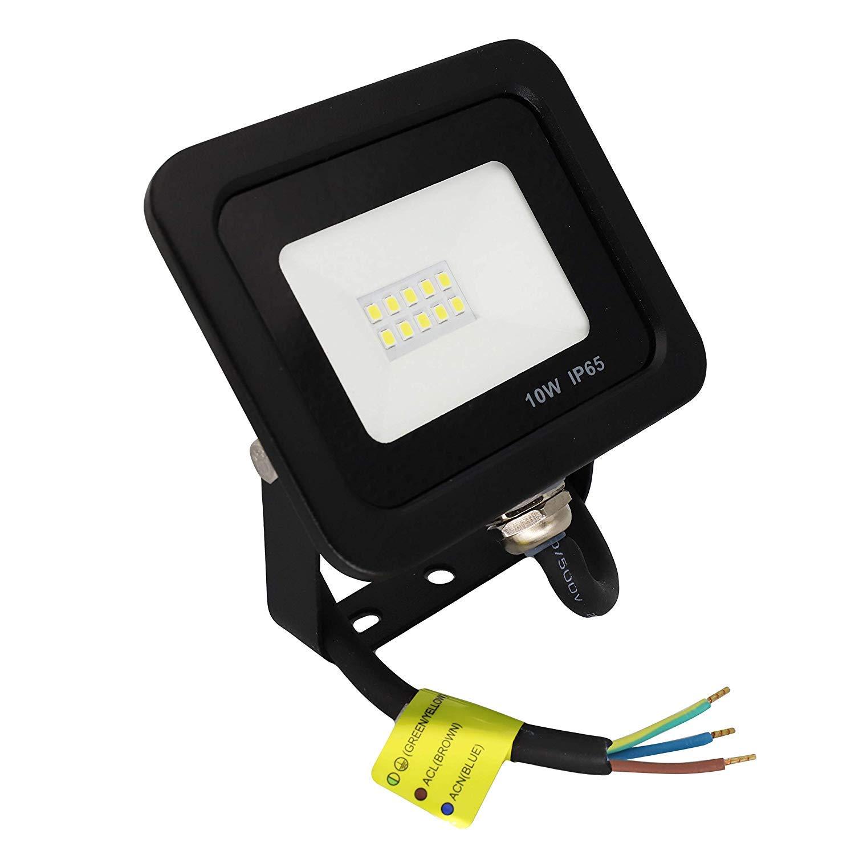 Focos 30 Watios, 10 unidad POPP/® juegos de 5 y 10 Floodlight Led Foco Proyector Led 10w 20w 30w para Exterior Iluminaci/ón Decoraci/ón 6000k luz fria Impermeable IP65 Negro y Resistente al agua.