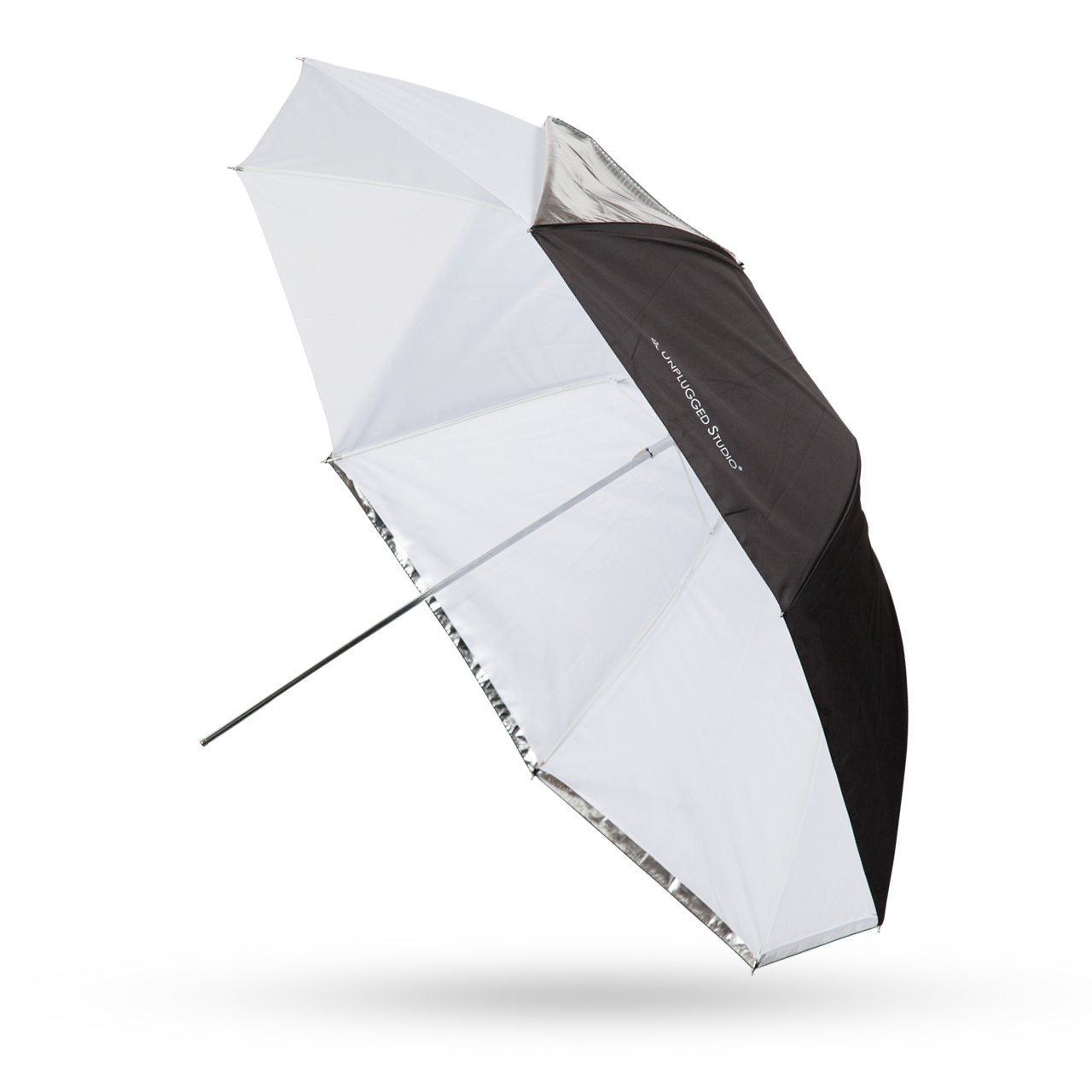 UNPLUGGED STUDIO 43inch White/Shoot Through Convertible Umbrella (Fiberglass Rib)