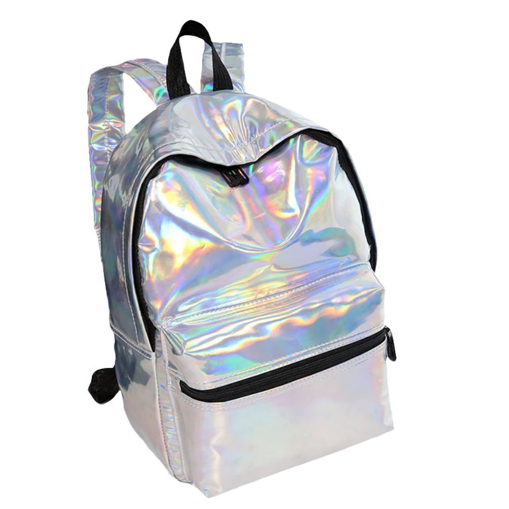Da。Wa GlitterキャンバスバックパックLarge capecityバックパックLoptop Bookbag for College Students B07CBTS84R