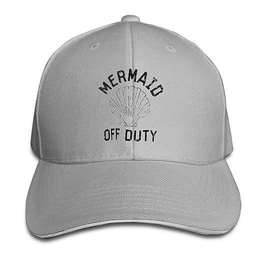 Amazon.com  Printed Mermaid Off Duty Shell Baseball Hats Sandwich ... 867c64c3033