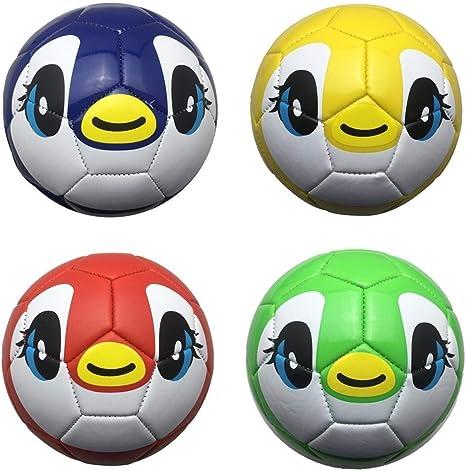 T TOOYFUL 4 Unidades Balñon de Fútbol de Niños Impresión Creativa ...