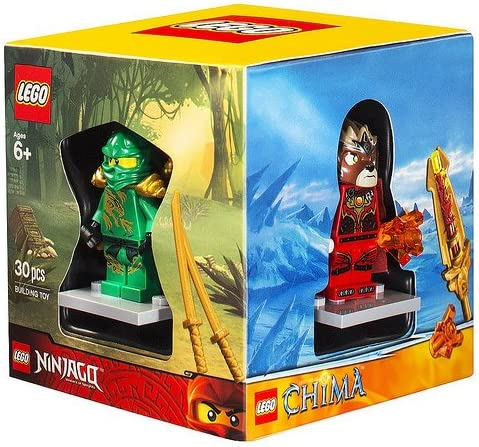 Lego Exclusive minifigure 4 pack box set, Superboy, Green ninja Lloyd, Lavertus, and City Adventure Ranger