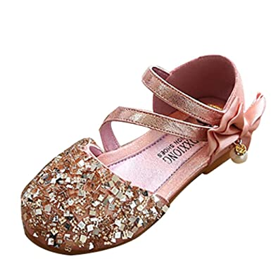 0465529dc0b Janly® Girls Shoes Toddler Baby Glitter Sandals Leather Casual Single Shoes  For 1-4
