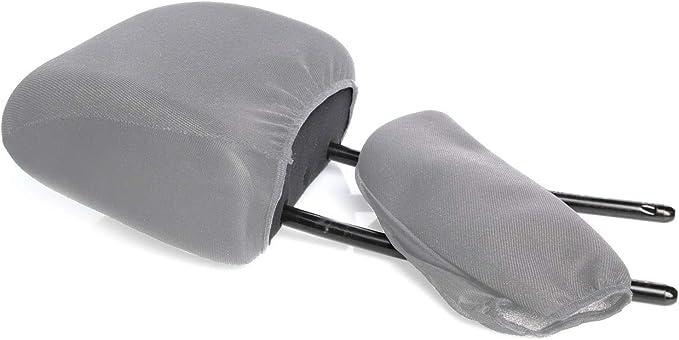 Myshopx Kopfstützen Bezug Universal Kopfstützenbezug Farbe Grau Schwarz Auto