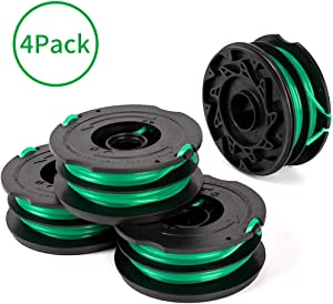 X Home 4-Pack Durable DF-080 Spools Compatible with Black Decker GH1000 GH1100 GH2000 Weed Eater, 0.080 inch Dia, 30FT Line