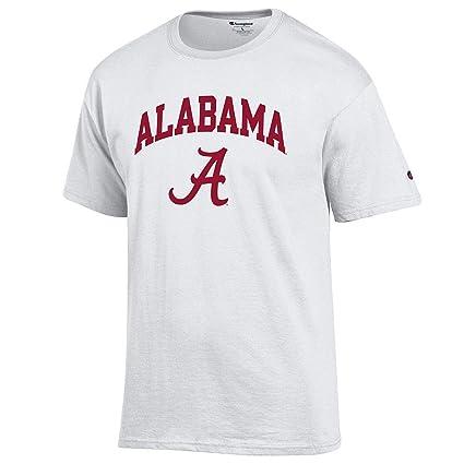 45a84b30 Amazon.com : Elite Fan Shop NCAA Men's T Shirt Arch Over White ...