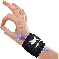 Polsband, compressie polssteun wrap met elastische haak en lus riemen, ademende polsband voor artritis, tendinitis…