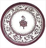 Handpainted Medium Moroccan Ceramic Bowl in Burgundy