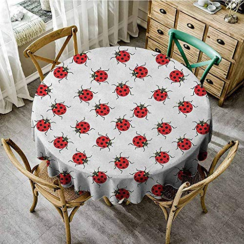 Speckled Red Wine - wipeable round tablecloth 35