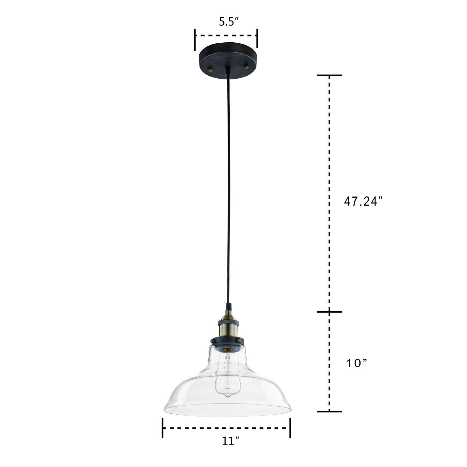 Claxy ecopower industrial edison vintage style 1 light pendant claxy ecopower industrial edison vintage style 1 light pendant glass hanging light amazon arubaitofo Image collections