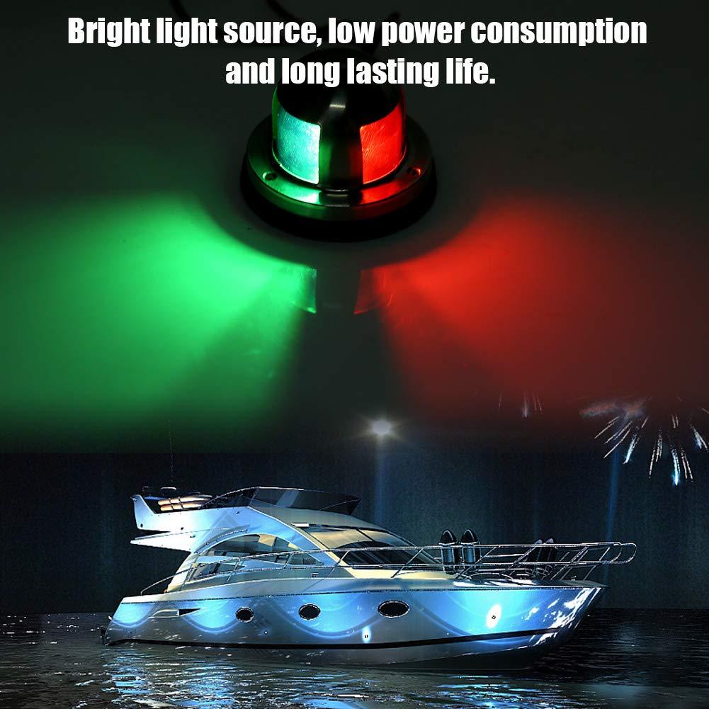 Navigation Light Marine Boat 12V//24V Stainless Steel Red/&Green LED Navigation Signal Light Lamp Yacht Accessory