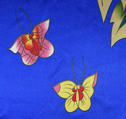 modello Donna boubou da fiore casa cinese kimono Abito a elegante vestaglia stile maniche con farfalla Blu CaxOqCw