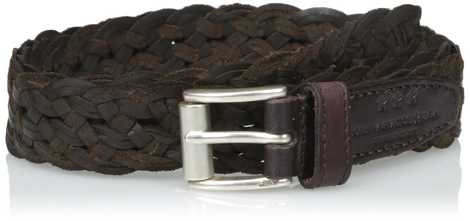 John Varvatos Star USA Mens Braided Leather Belt 25Mm