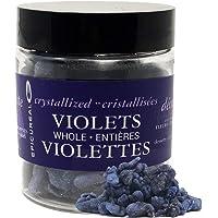 Epicureal Crystalized Violet Petals - 50g | Whole Hand-Picked Large Violet Petals, Elegant Finishing Decoration