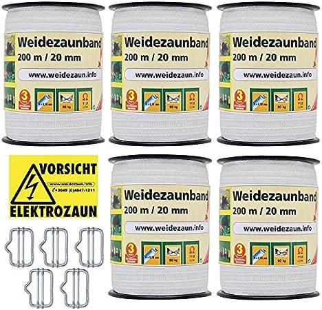 20mm Breitband Fence-Guard Edelstahl Niro Leiter Weidezaun Weide Band Weideband