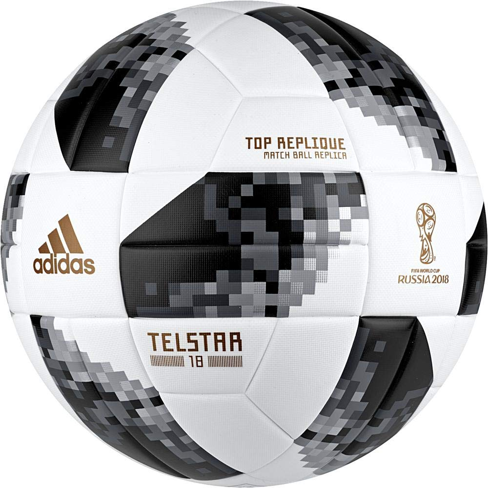 376ab807c Buy ADIDAS FIFA World Cup 2018 Telstar Football (Knockout Top Glider Match  Ball Replica) Online at Low Prices in India - Amazon.in