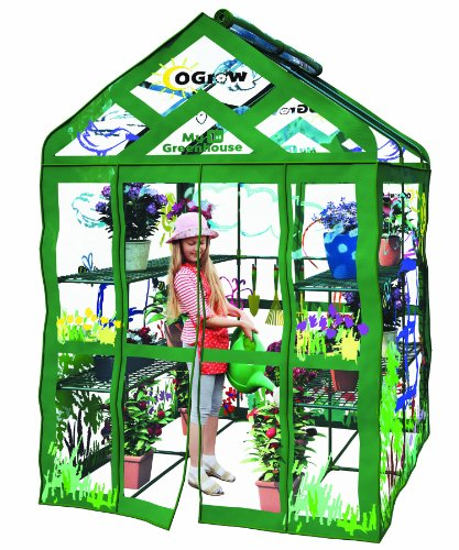 Ogrow Kid's My First Greenhouse Walk-In 3 Tier 12 Shelf Greenhouse For Sale