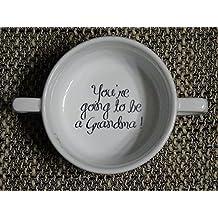 Soup Bowl 2, 1 pcs, You're Going to be a Grandma , Pregnancy Announcement, pregnancy reveal , Bottom, hidden message, secret message, Soup Bowl