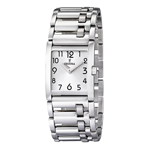 Festina F16550/1 - Reloj analógico de mujer de cuarzo con correa de acero inoxidable plateada: Festina: Amazon.es: Relojes