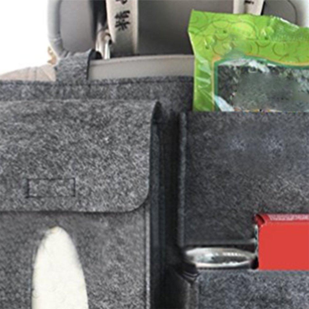 Kentop Organisateur de Coffre Pliable Conteneurs de Rangement pour Voiture Camion SUV Organisateur de Coffre Voiture sac de rangement voiture 1PCS 32*28CM Gris