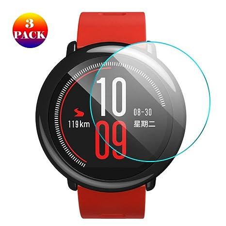 3 Unidades] Xiaomi Huami AMAZFIT Smart Watch Protector de Pantalla ...