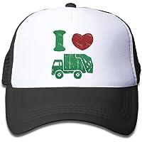 Waldeal Children's I Love Trash Garbage Trucks hat Truck Hat Mesh Cap